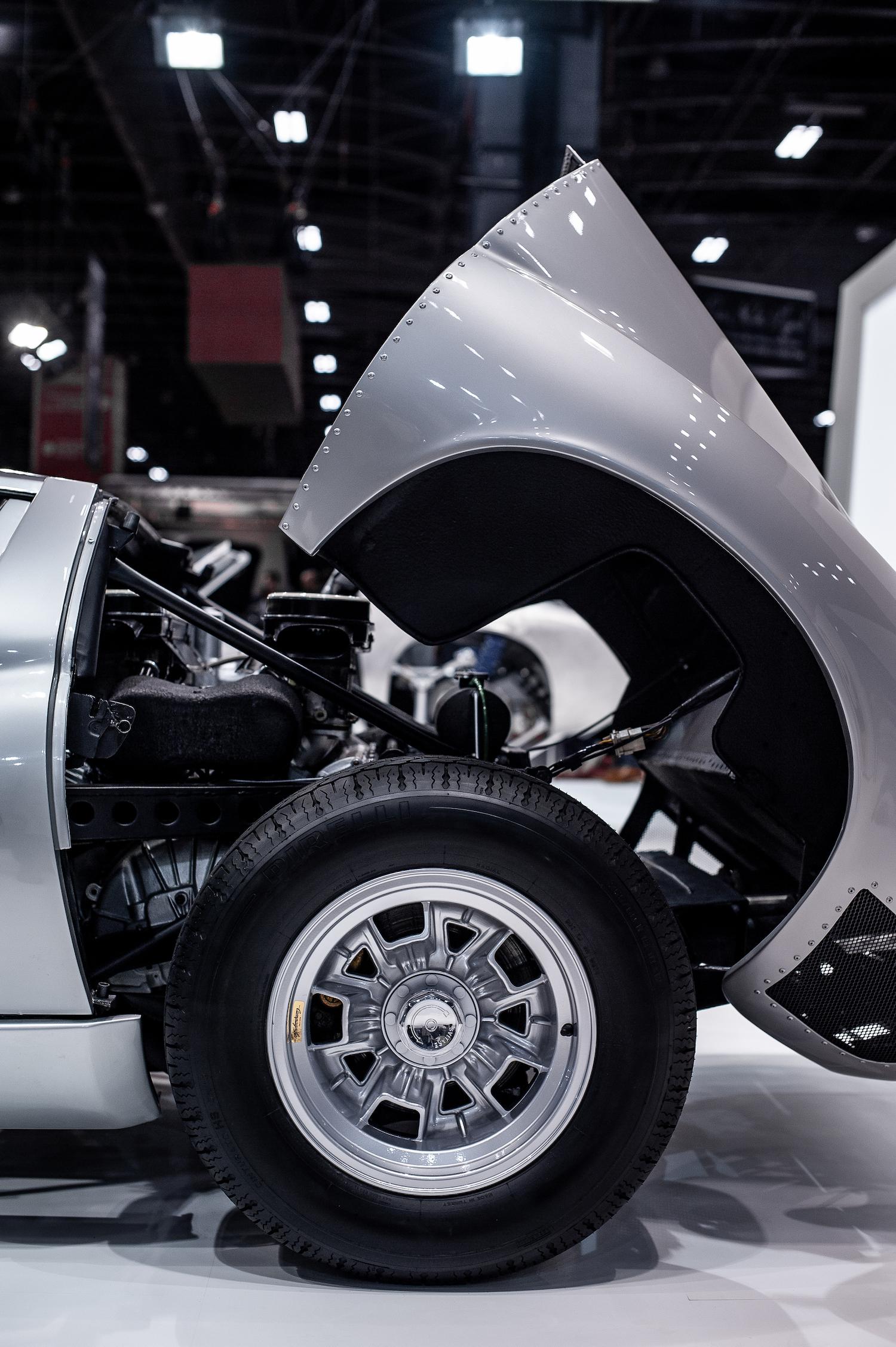 Lamborghini miura restoration front wheel