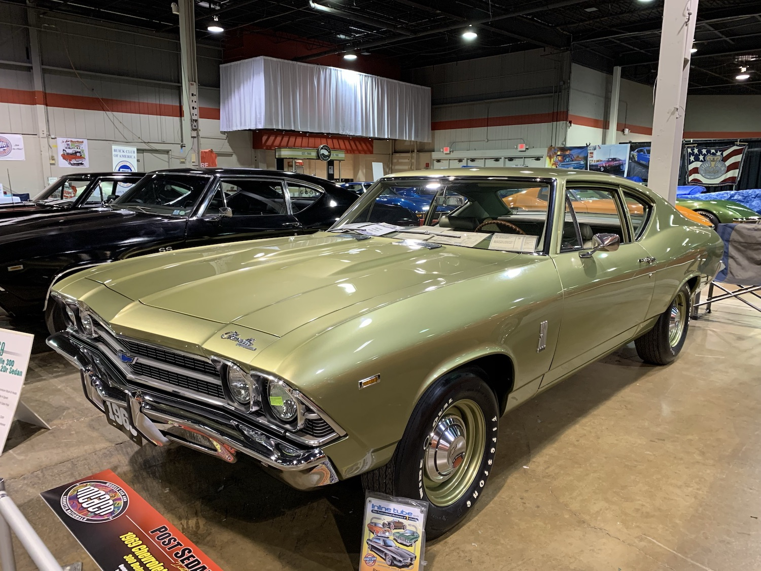 green chevelle 300 front three-quarter