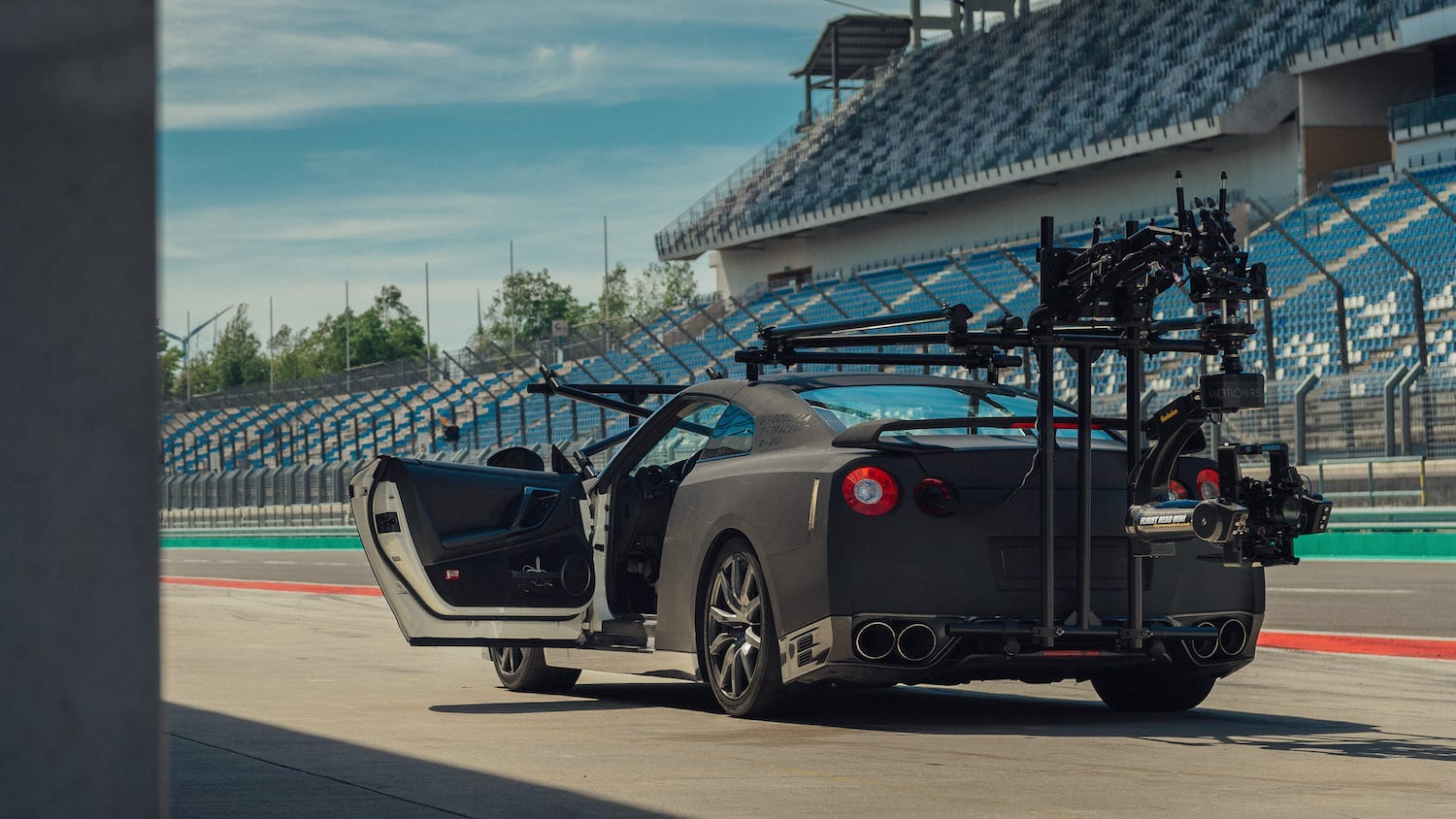 nissan gtr camera car rear three-quarter
