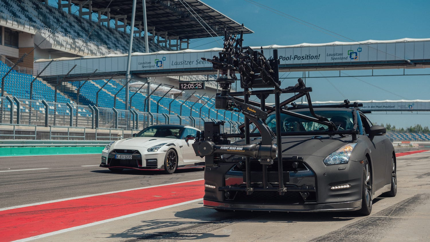nissan gtr camera car front three-quarter