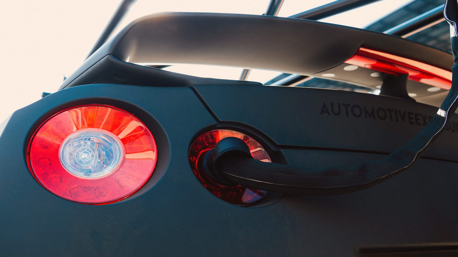 nissan gtr camera car taillight mount closeup