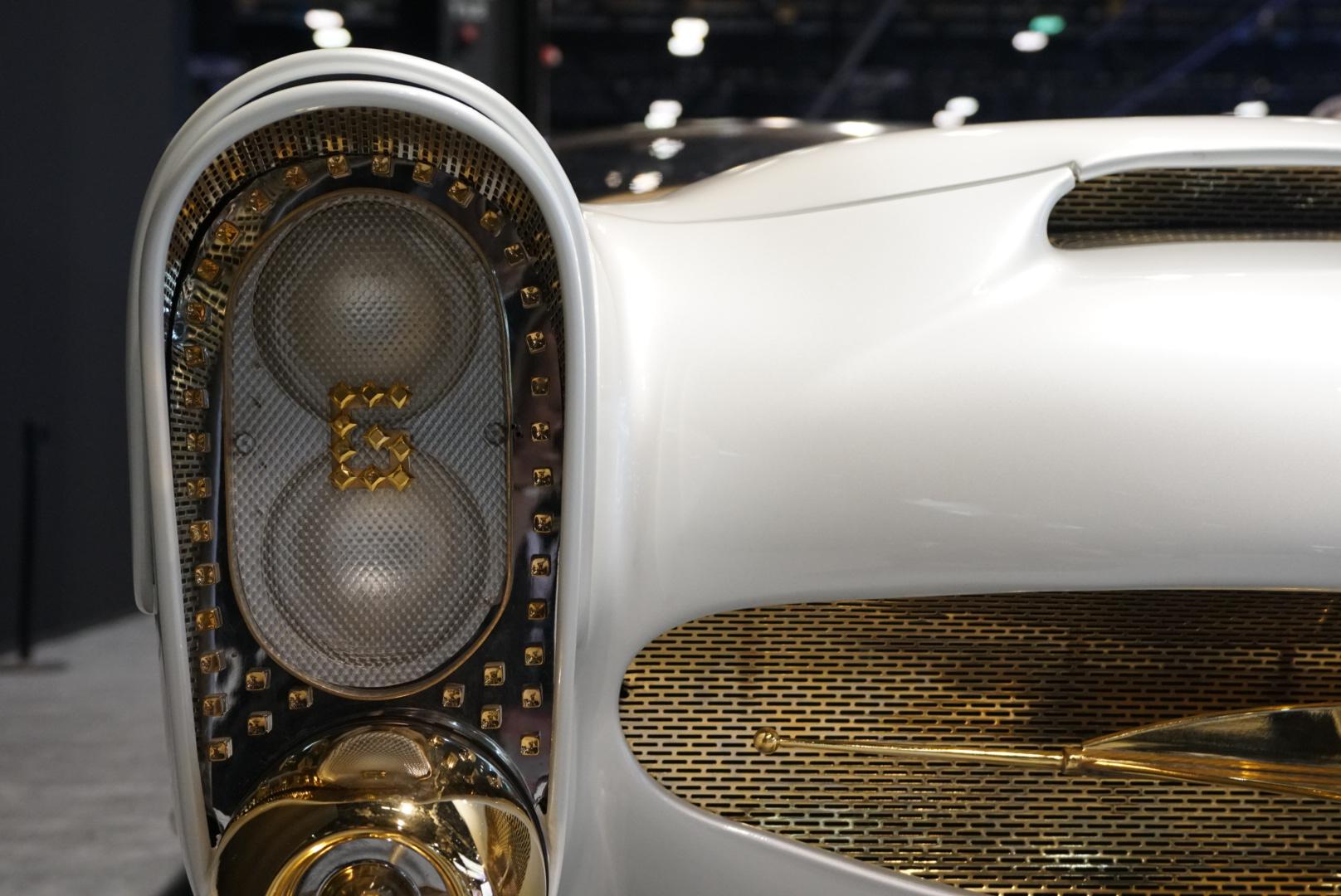 custom car headlight and grille