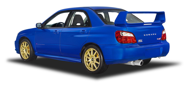 Subaru wrx sti rear three-quarter