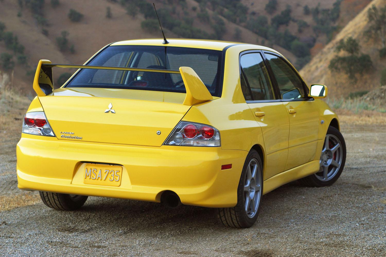 Mitsubishi rear three-quarter