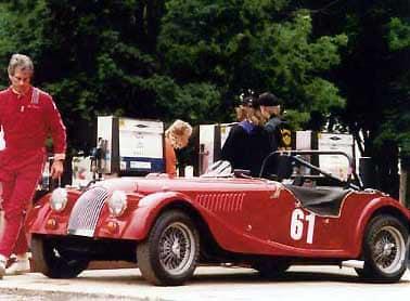 bill fink in race gear with morgan plus eight