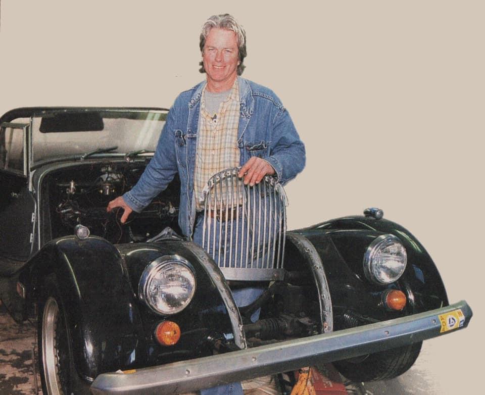 bill fink holds morgan front grille