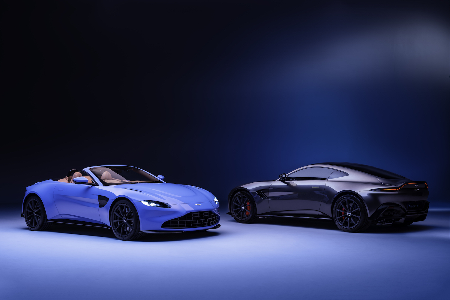 2020 vantage roadsters front and rear three-quarter