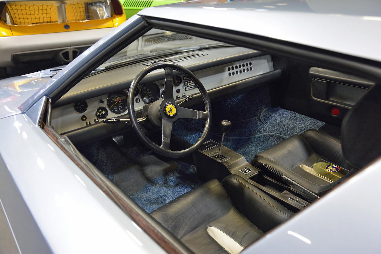 1976 Ferrari 308GT Rainbow interior view through window