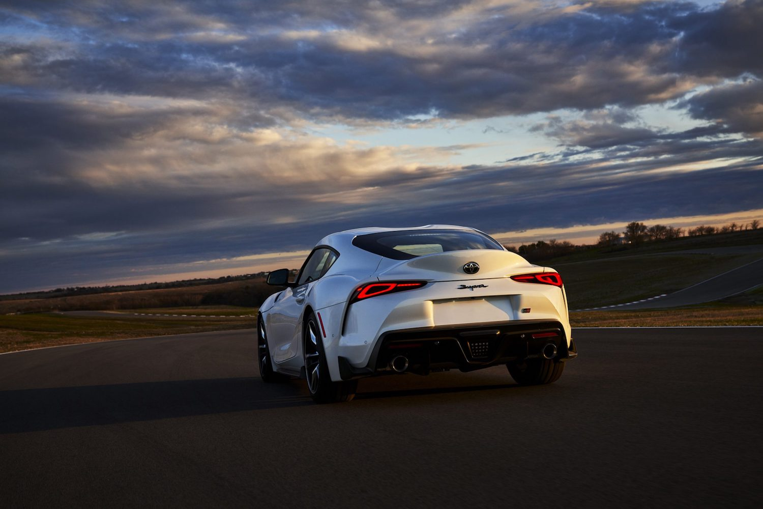 GR Supra 3.0 Premium rear on track action