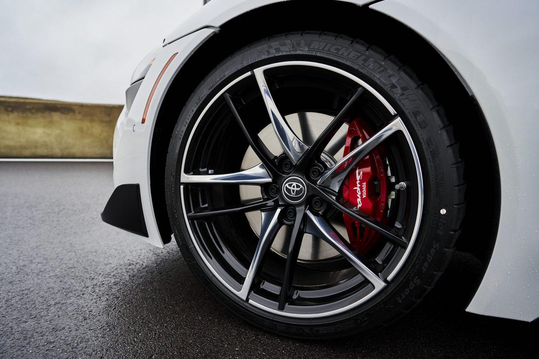 GR Supra 3.0 Premium front wheel closeup detail