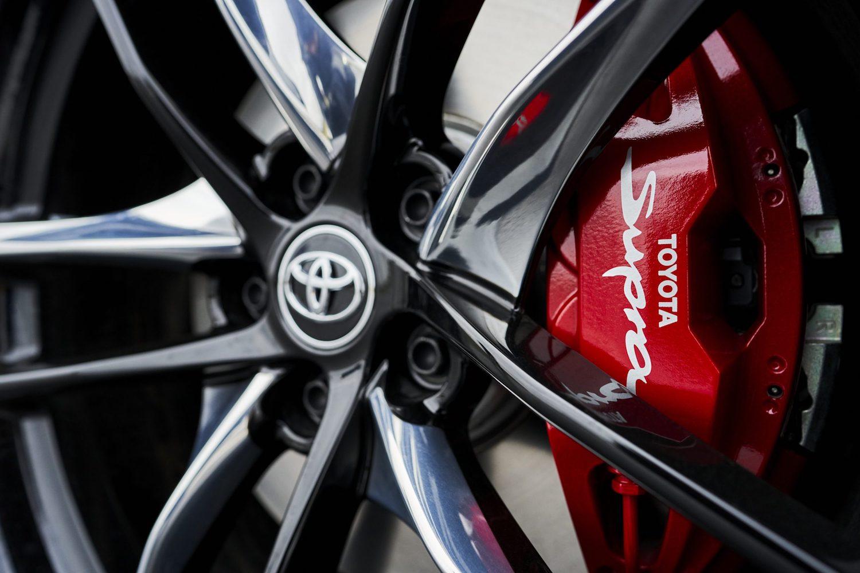 GR Supra 3.0 Premium wheel and caliper closeup