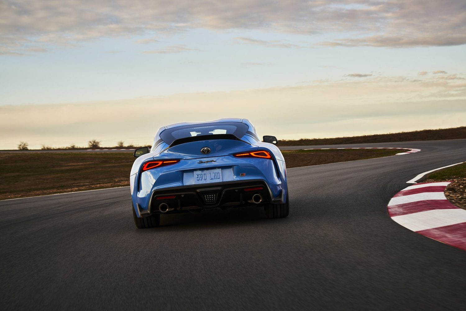GR Supra A91 Edition rear on track action