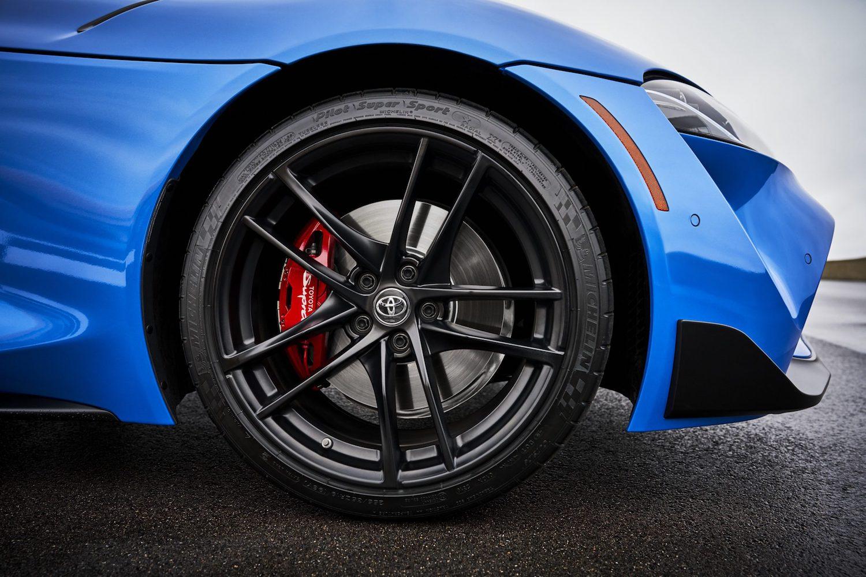 GR Supra A91 Edition front wheel closeup