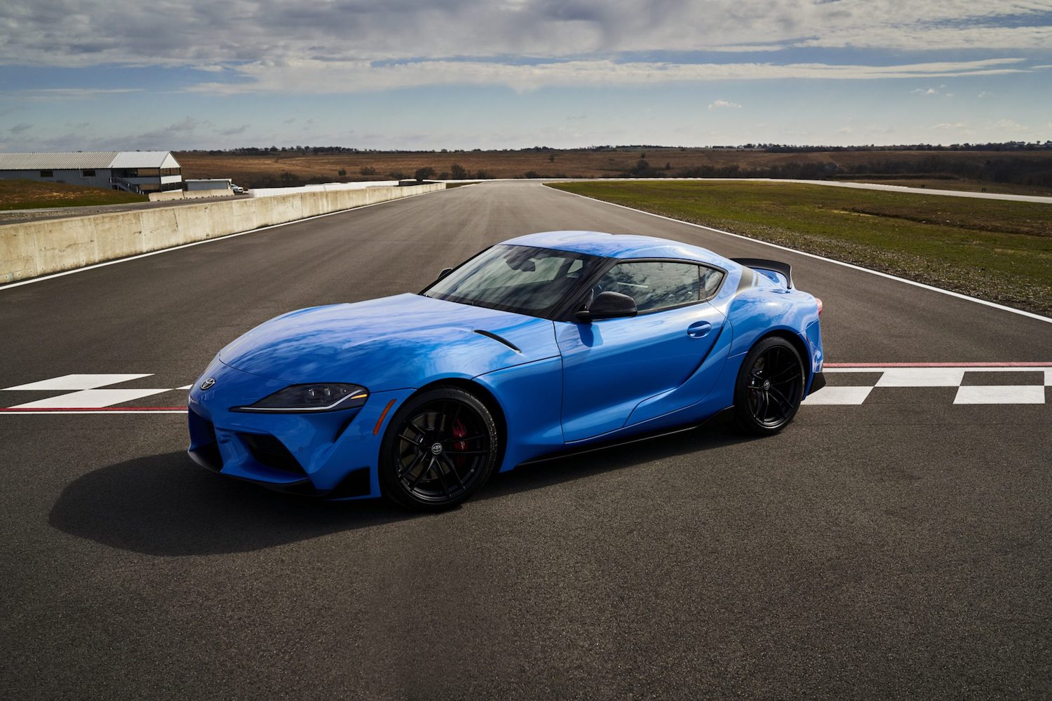 GR Supra A91 Edition front three-quarter on track