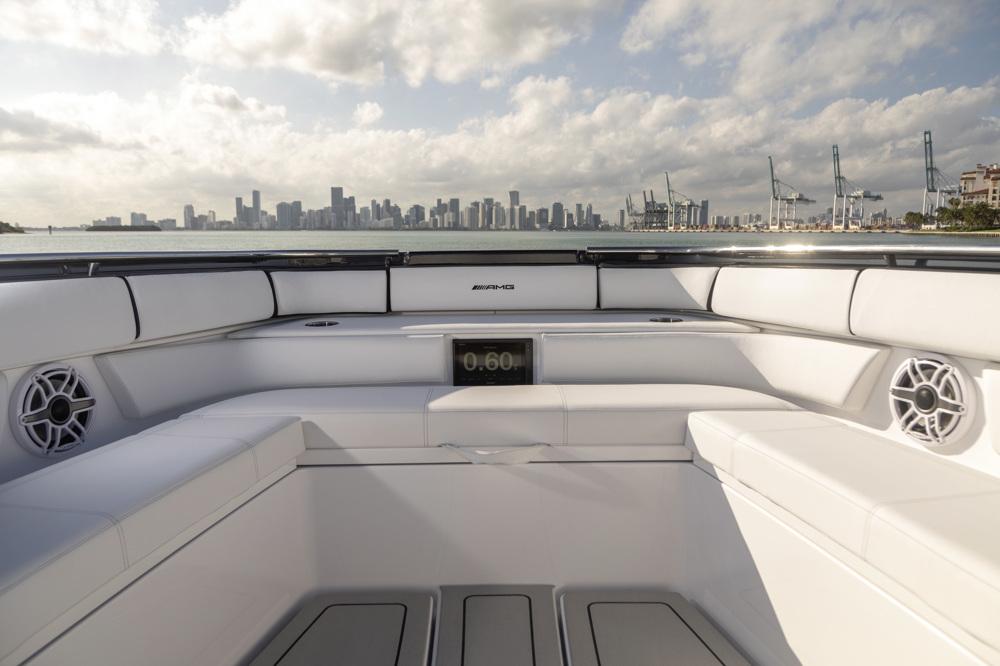 amg race boat rear stern interior