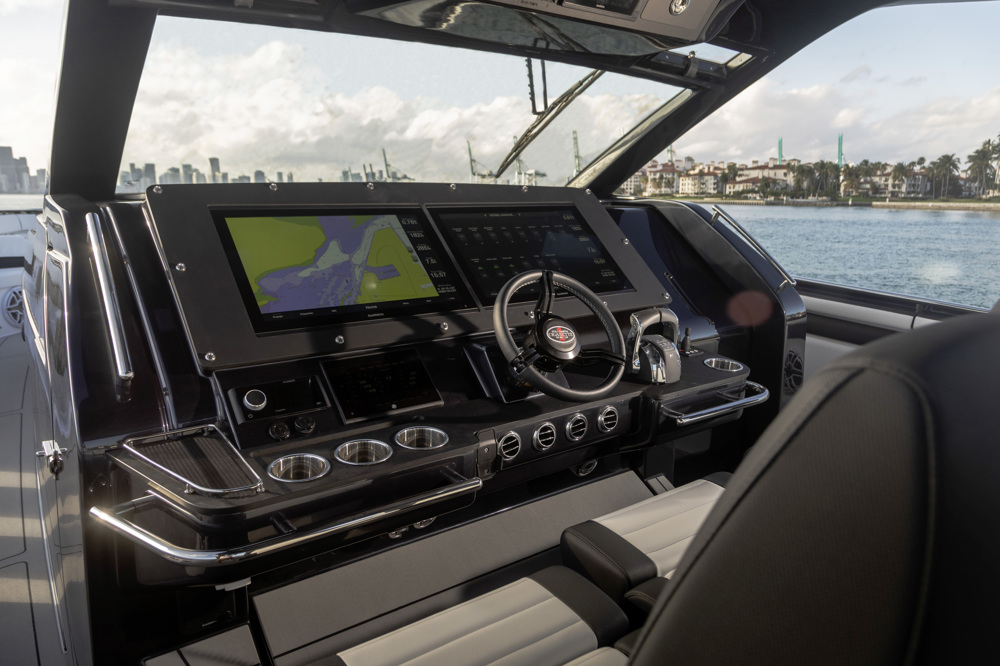 amg race boat front interior