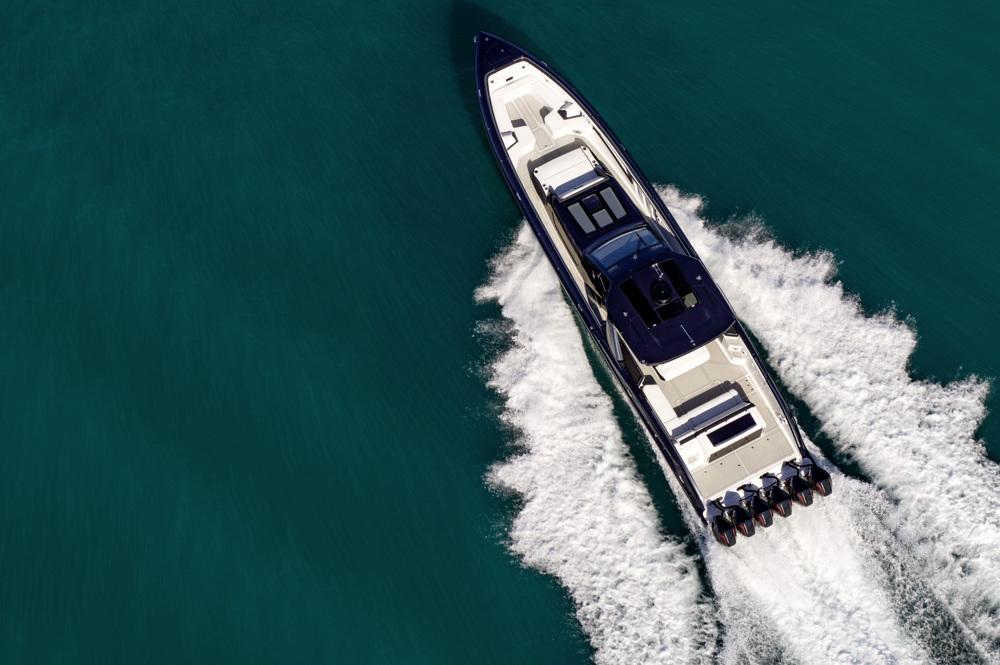 overhead mercedes amg boat