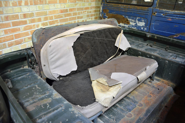 1958 Toyota FJ25 rear seat