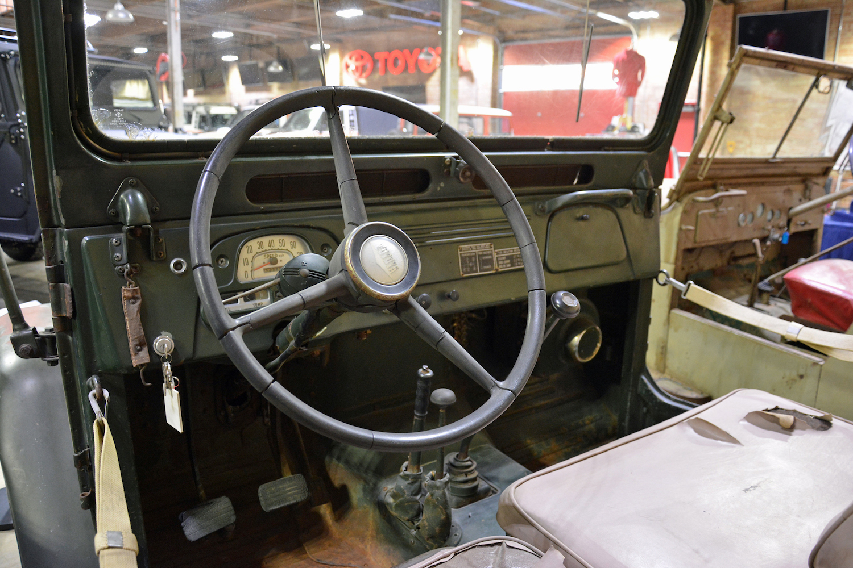 1958 Toyota FJ25 front interior