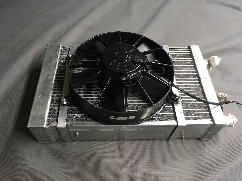 new car radiator fan installed