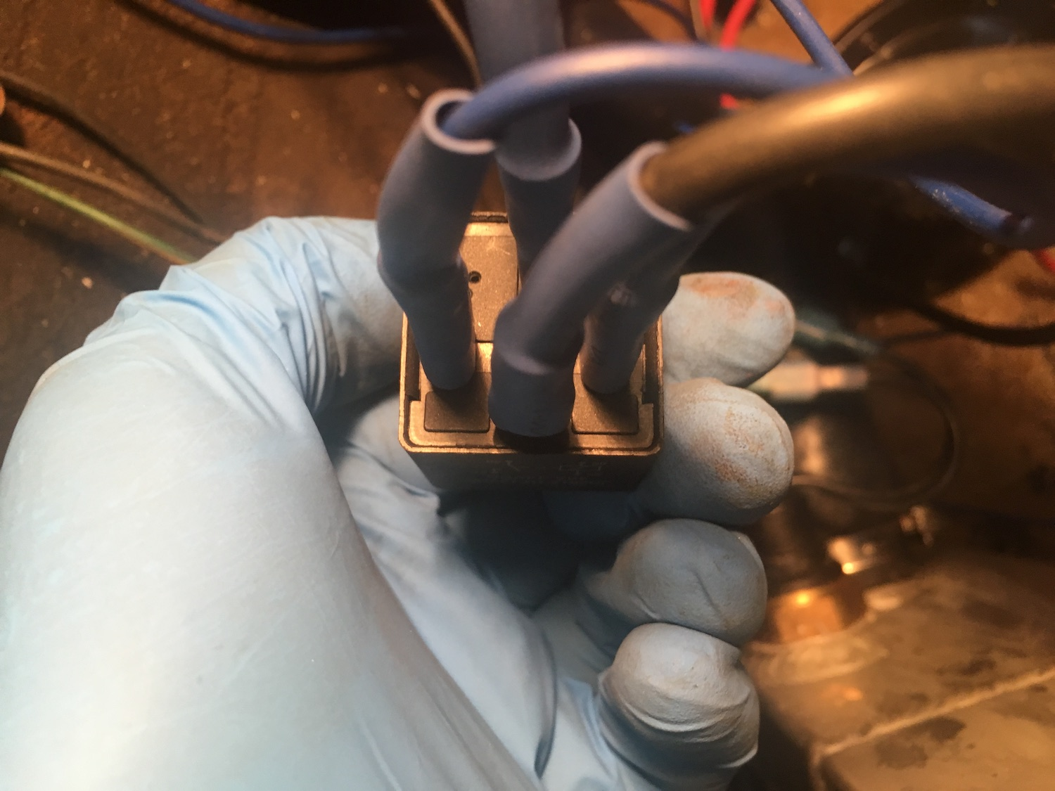 radiator relay and wiring