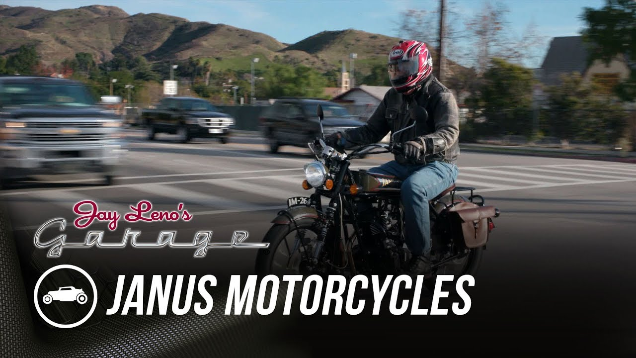 Old style, new tech: Jay Leno rides Janus' Halcyon motorcycle thumbnail