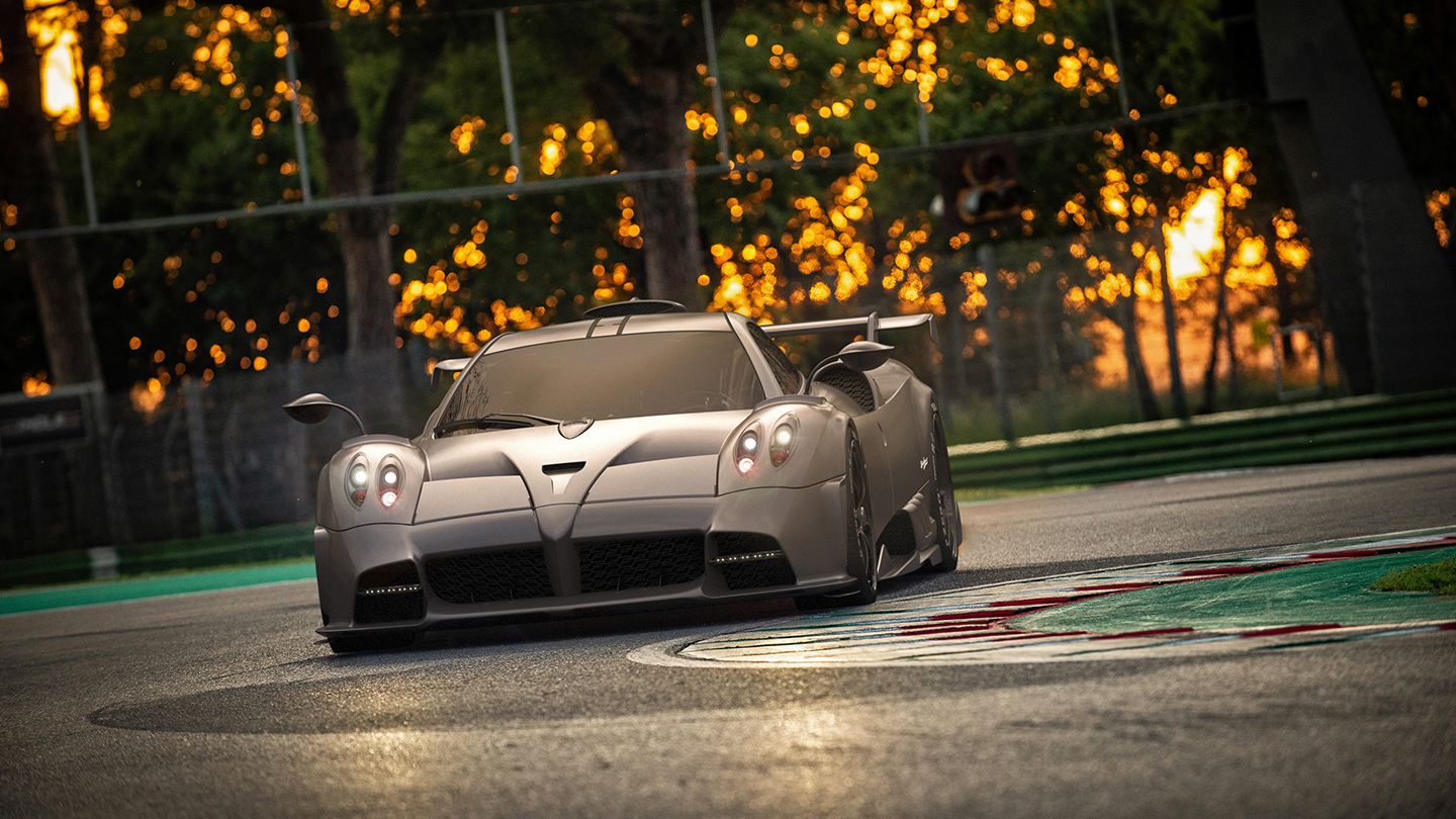 Pagani Imola front on track action