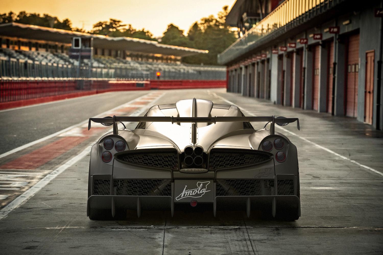 Pagani Imola rear at track