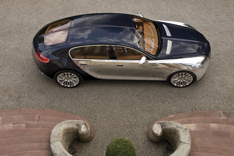 Bugatti 16C Galibier concept overhead side-view