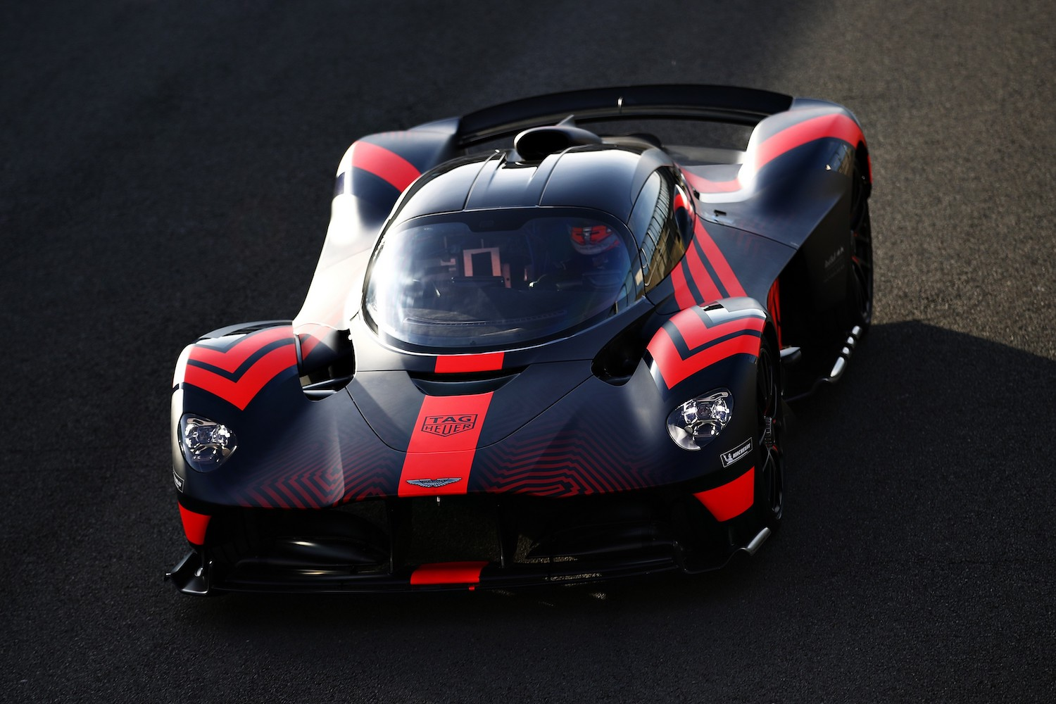 aston martin valkyrie race car front three-quarter