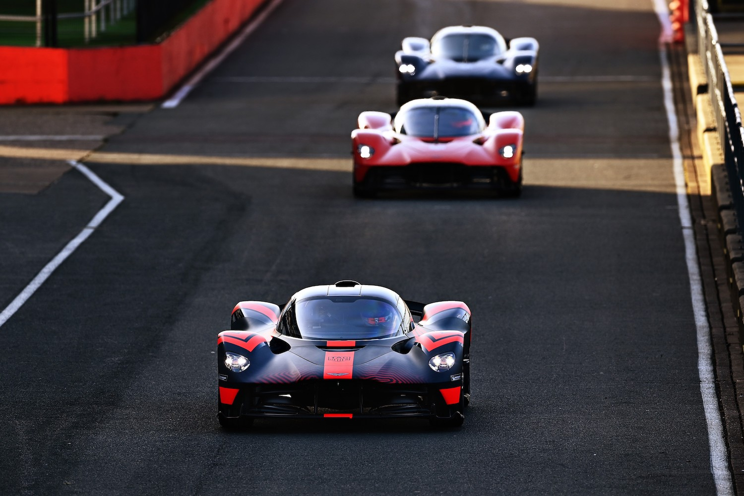 aston martin valkyrie race cars front