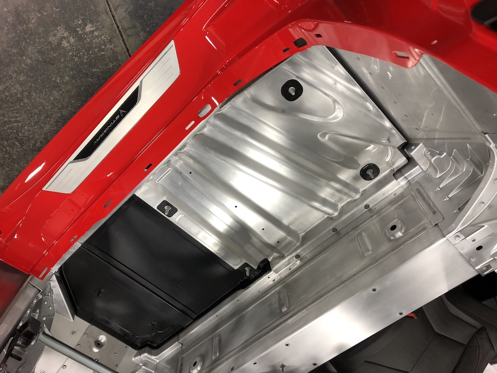 Corvette chassis exposed