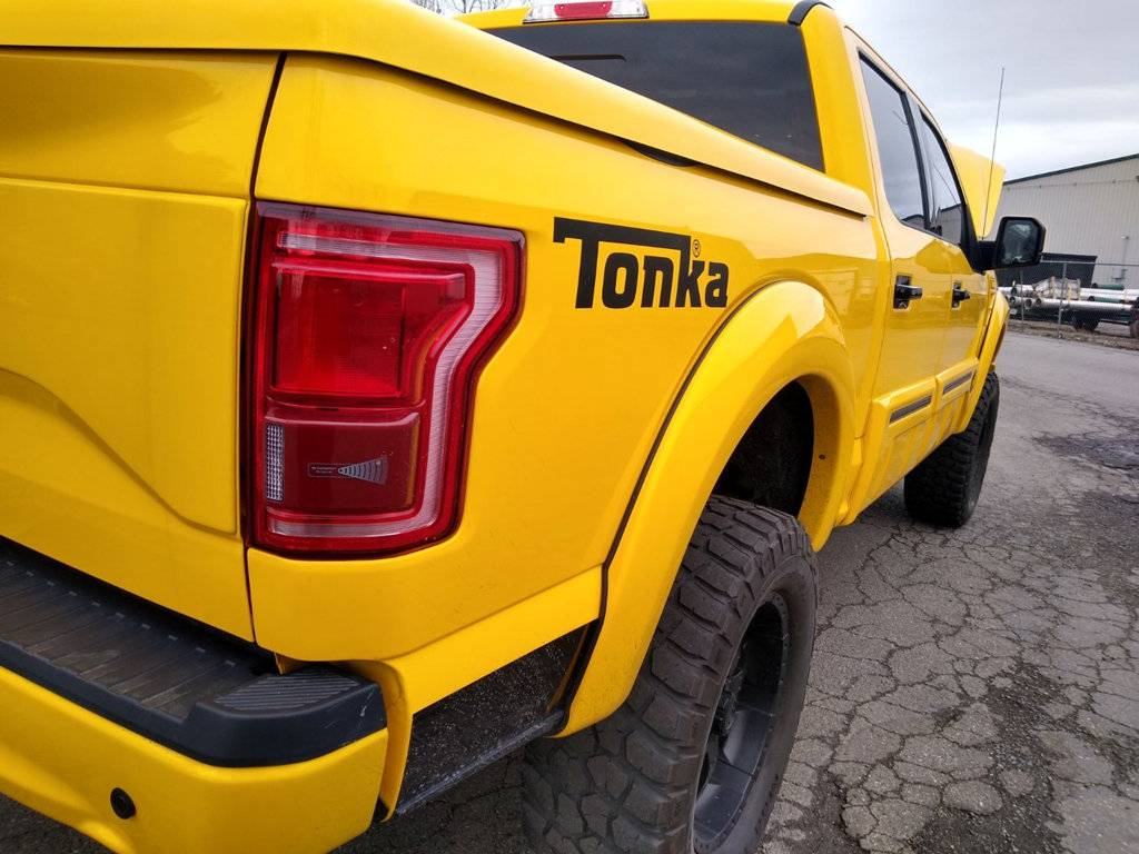 2016 Ford F-150 Tonka Edition rear three-quarter