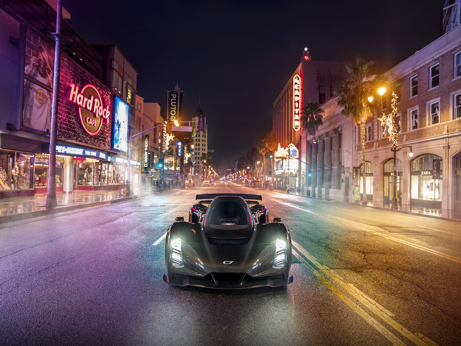 Czinger 21C 3D print hybrid supercar front in hollywood