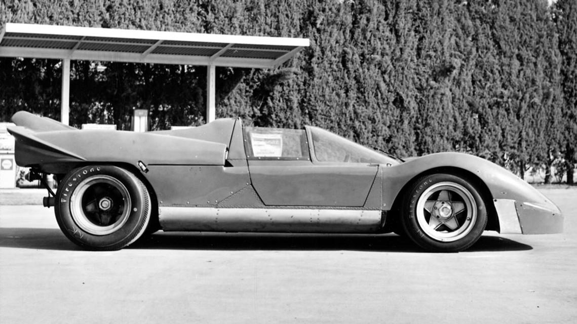 vintage ferrari supercar side-view