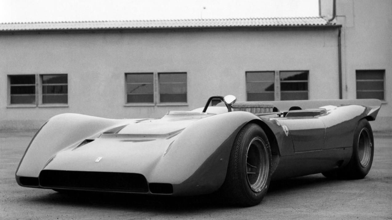 vintage ferrari supercar front three-quarter