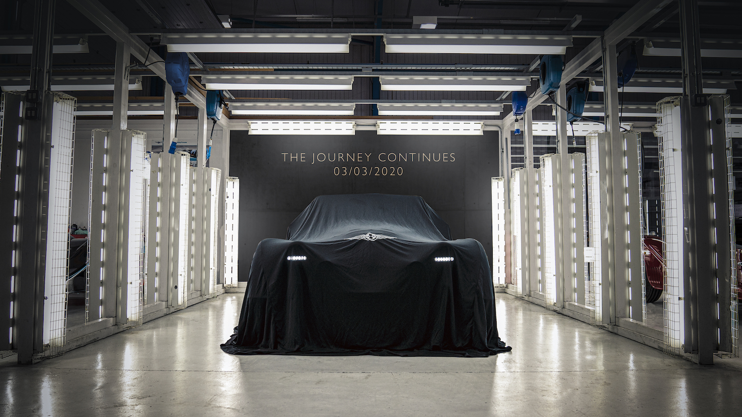 morgan car under drape to debut at geneva