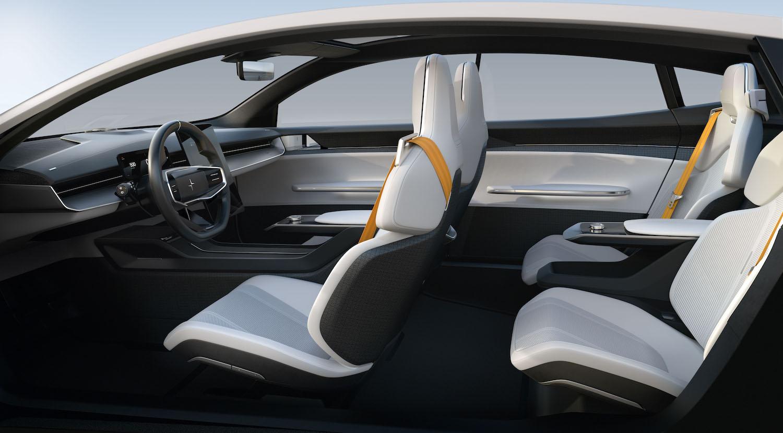 polestar precept sedan interior side-view