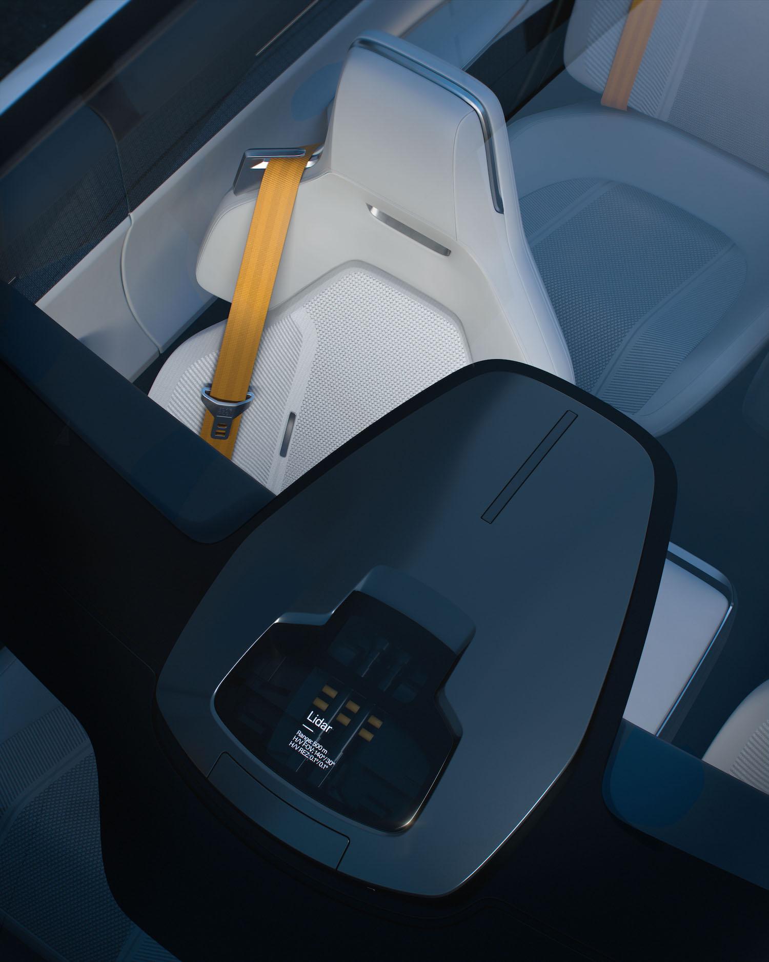 polestar precept sedan overhead front seat