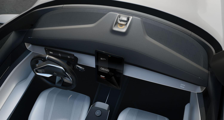 polestar precept sedan overhead front dash