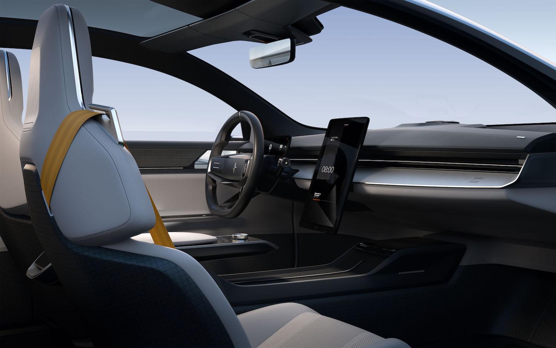 polestar precept sedan front dash