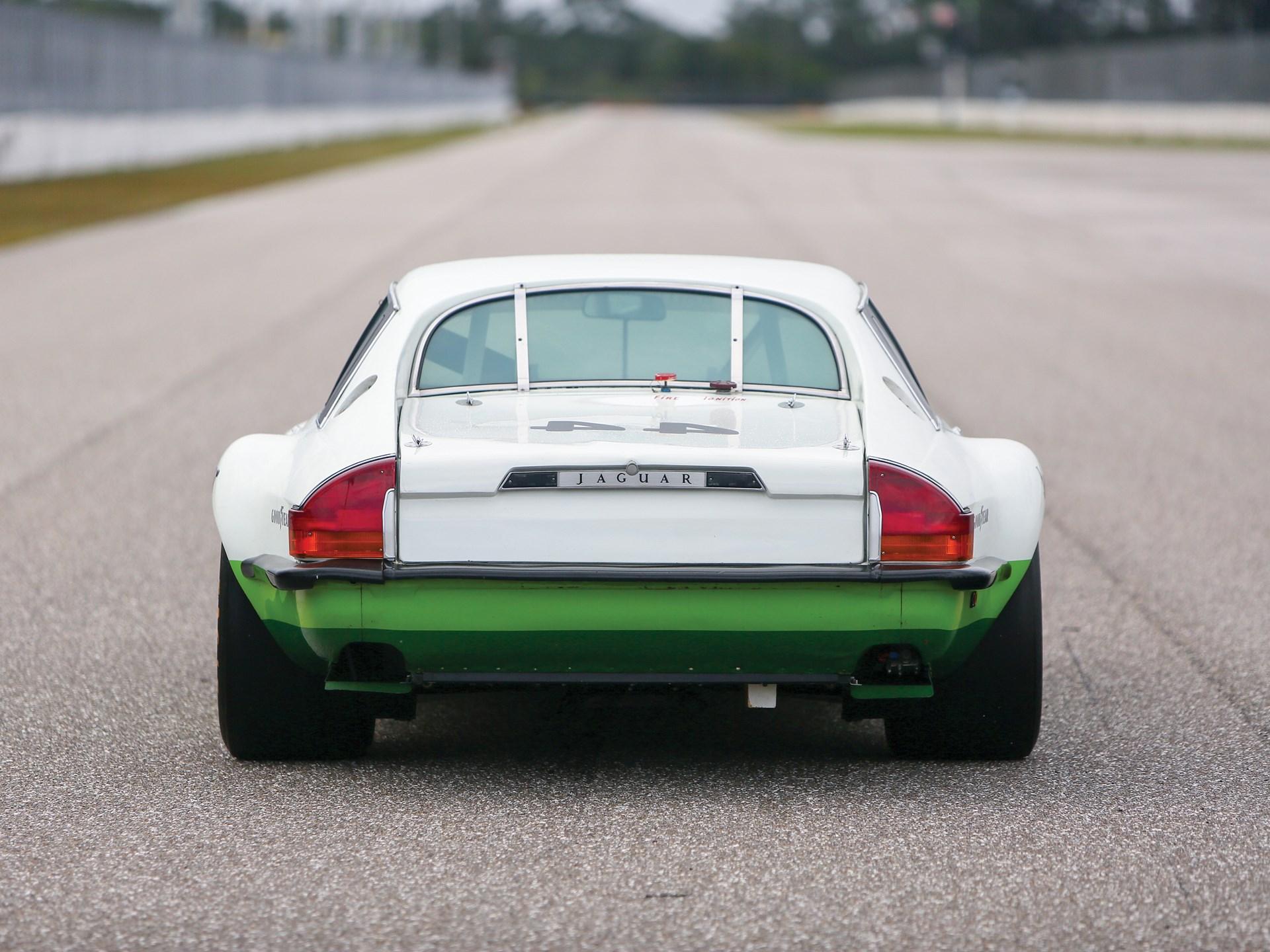vintage racing jaguar rear
