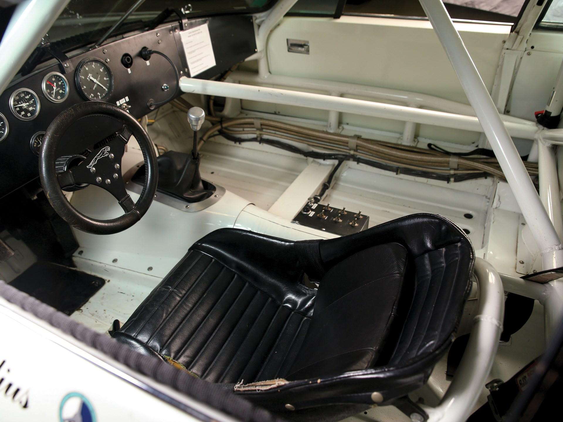 vintage racing jaguar interior
