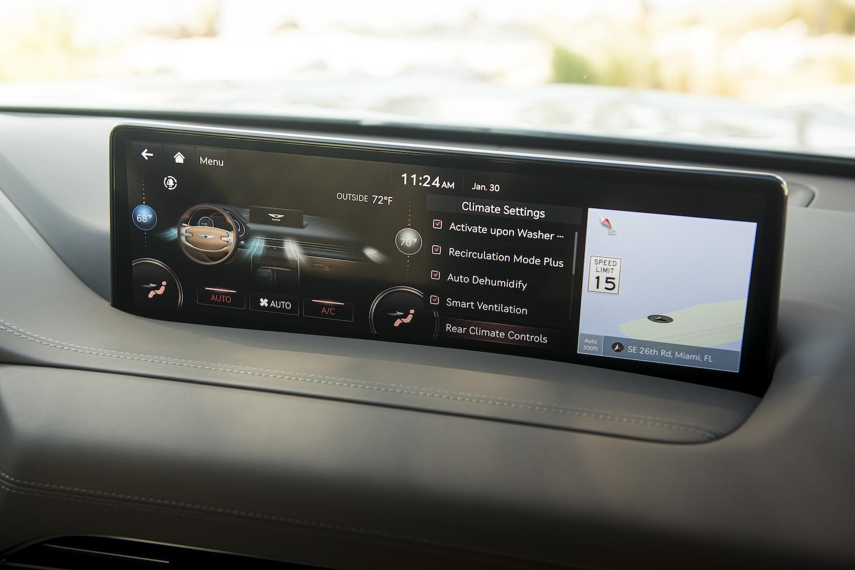 Genesis gv80 suv front interior infotainment system