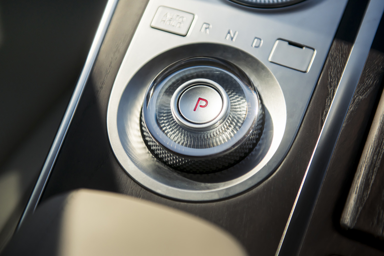 Genesis gv80 suv front three-quarter console parking button