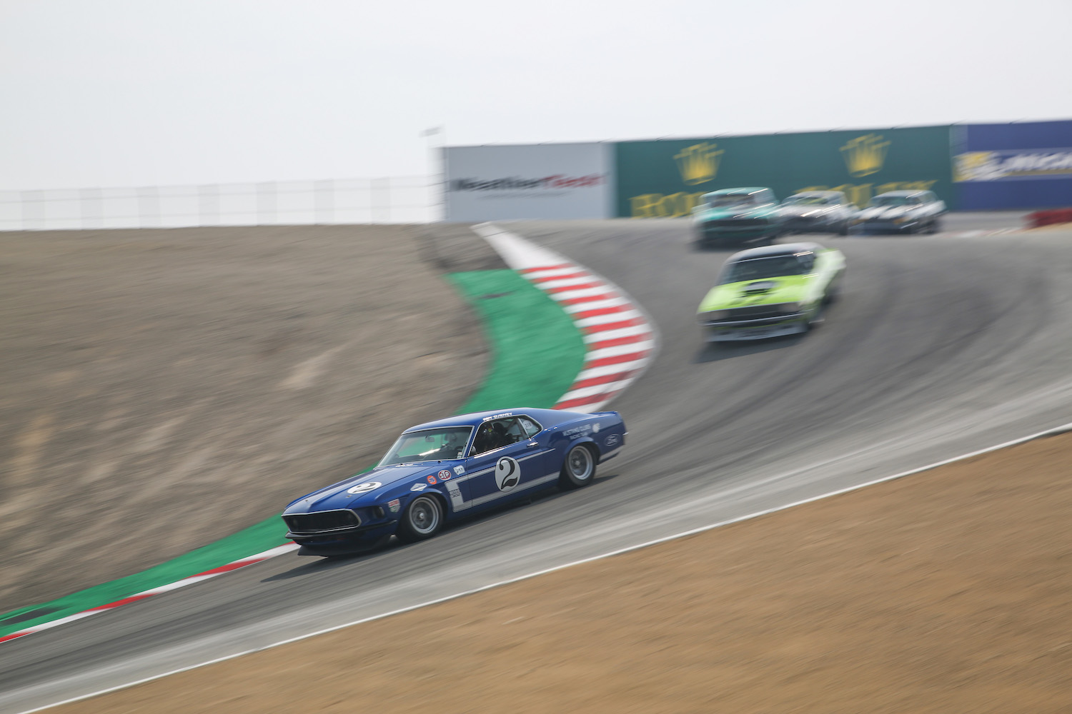 vintage car racing at laguna seca raceway track