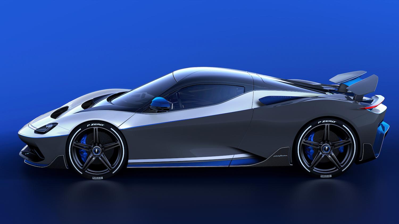 Pininfarina hypercar side-view