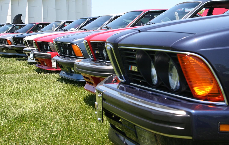 row of bmw 635csi cars