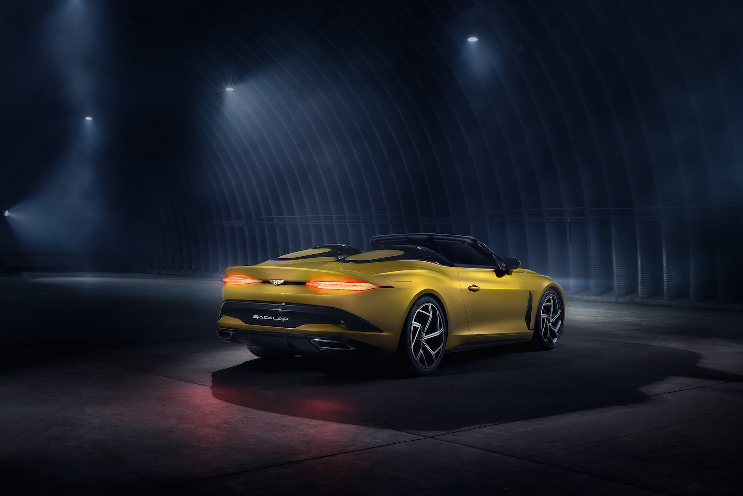 2020 mulliner bacalar barchetta rear three-quarter