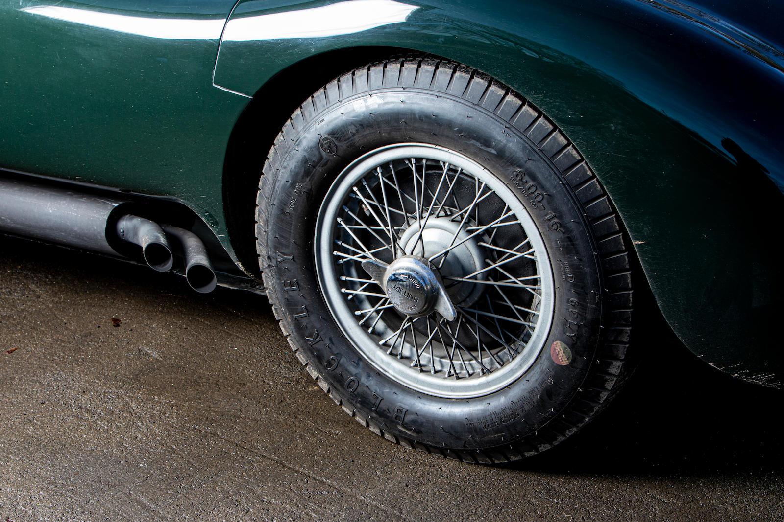 1952 Jaguar XK120 C-Type wheel detail